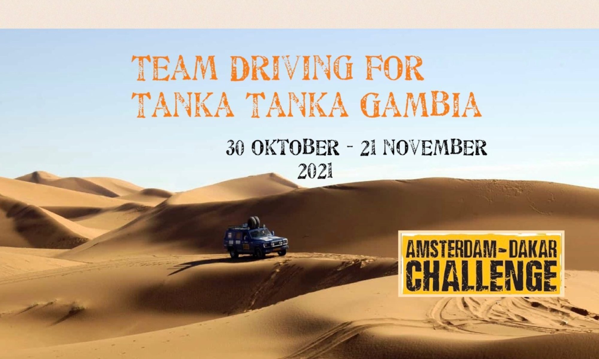 Driving for Tanka Tanka Gambia
